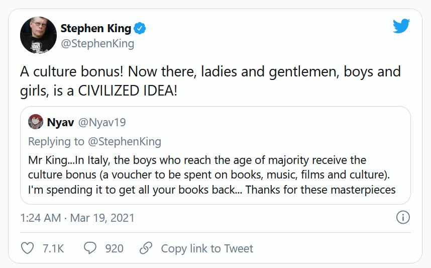 Bonus Cultura - Stephen King