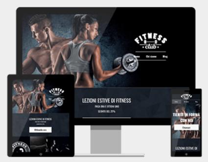 Sito web di fitness